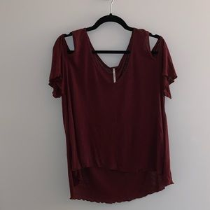 Free People Off the Shoulder T-Shirt